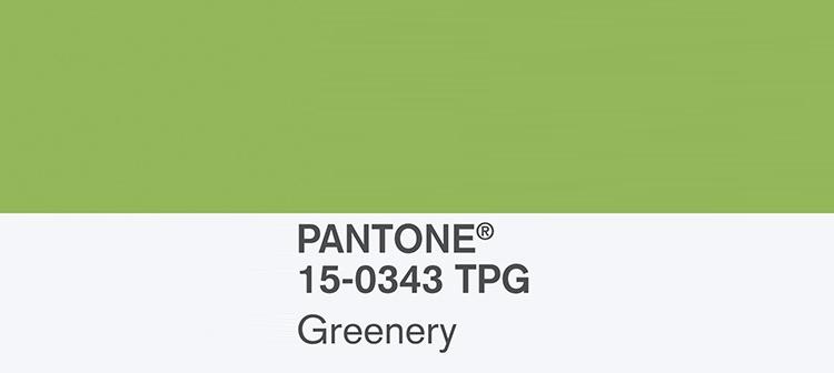 Pantone Greenery kolor roku 2017