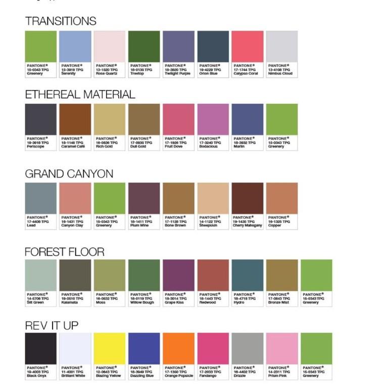 kolory pasujące do greenery