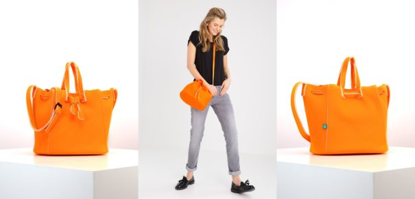 Benetton Torba na ramię neon orange