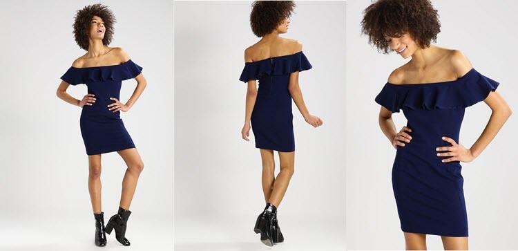 granatowe sukienki