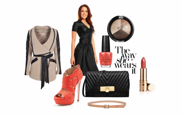 stylizacja-z-czarna-sukienka-skorzana