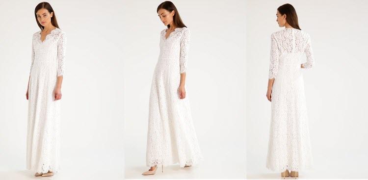 biała koronkowa sukienka na studniówkę