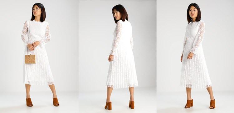 biała sukienka sylwestrowa