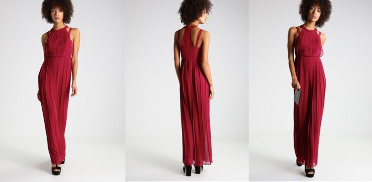 bordowa sukienka na studniówkę