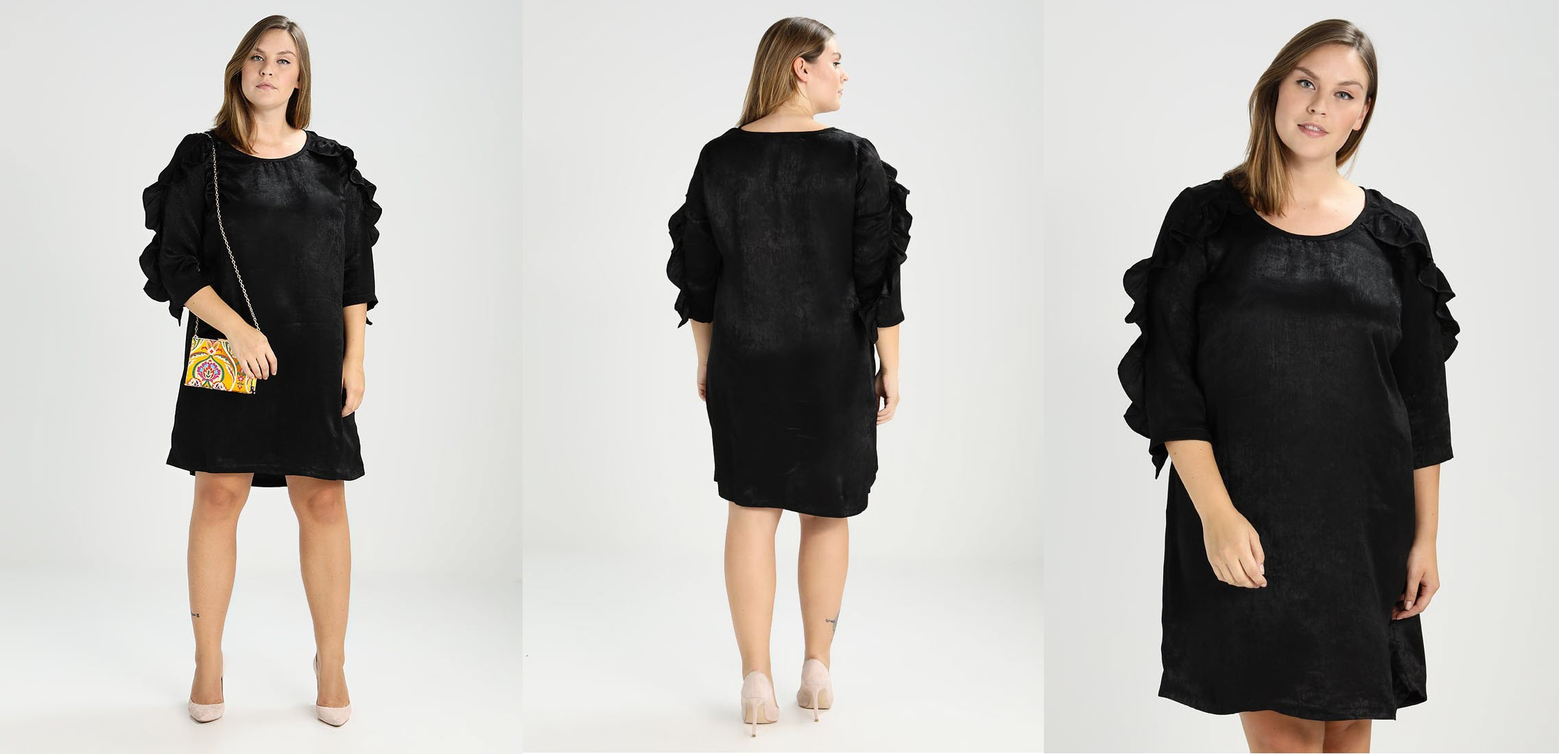 czarna sukienka sylwestrowa dla puszystych
