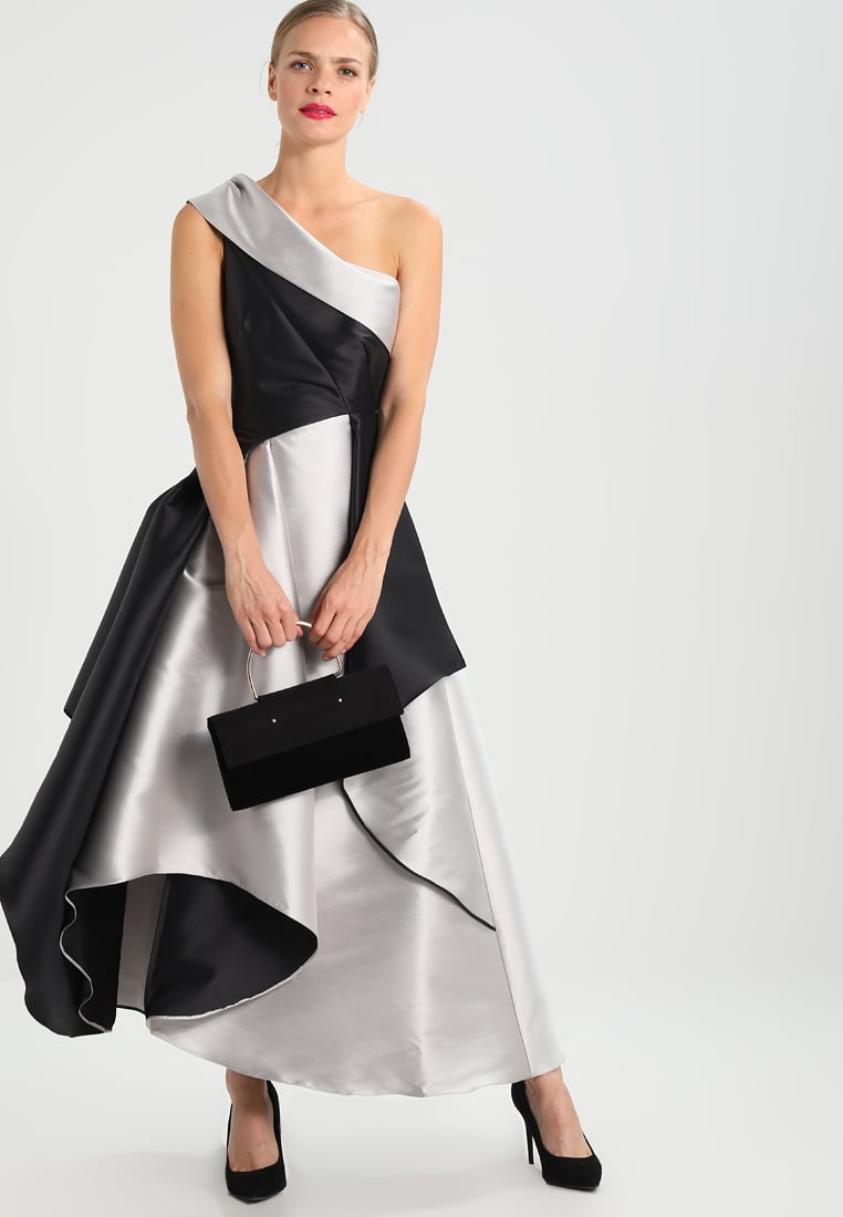 czarno biała suknia sylwestrowa