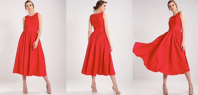 czerwona sukienka sylwestrowa