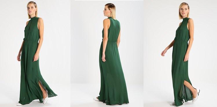długa zielona suknia na studniówkę