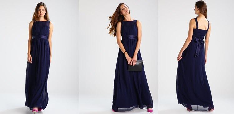granatowa sukienka studniówkowa