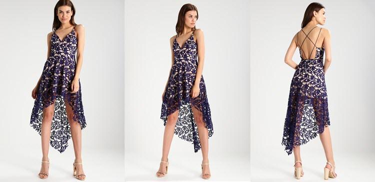 krótka sukienka studniówkowa we wzory