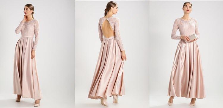 kremowa sukienka na studniówkę