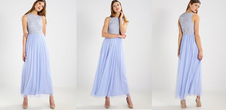niebieska sukienka na studniówkę
