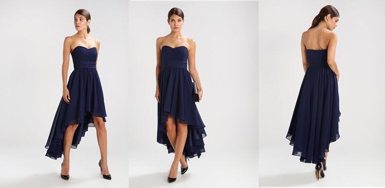 niebieska sukienka studniówkowa