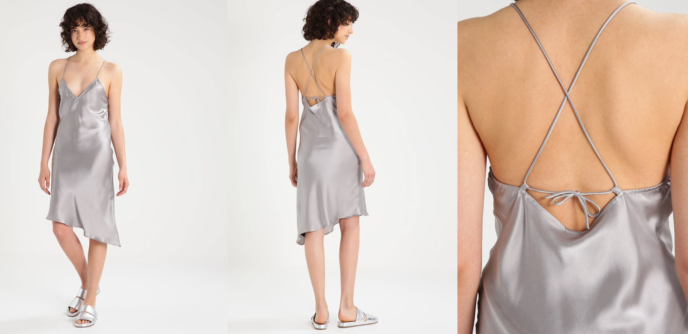 srebrna sukienka sylwestrowa