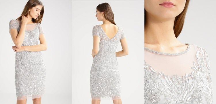 srebrne sukienki sylwestrowe