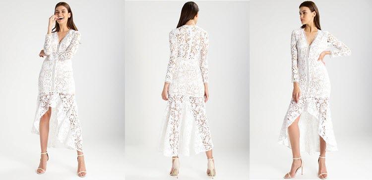 sukienka biała koronkowa na sylwestra