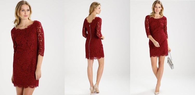 sukienka czerwona koronkowa na sylwestra