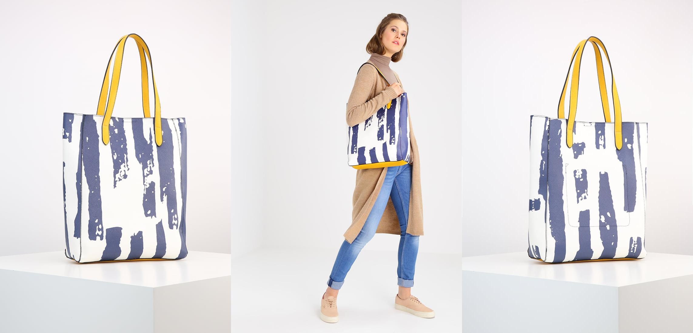 890c830ce3e3c Benetton Torba na zakupy blue • Modne torebki damskie
