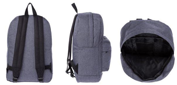 Spiral Bags Plecak crosshatch charcoal