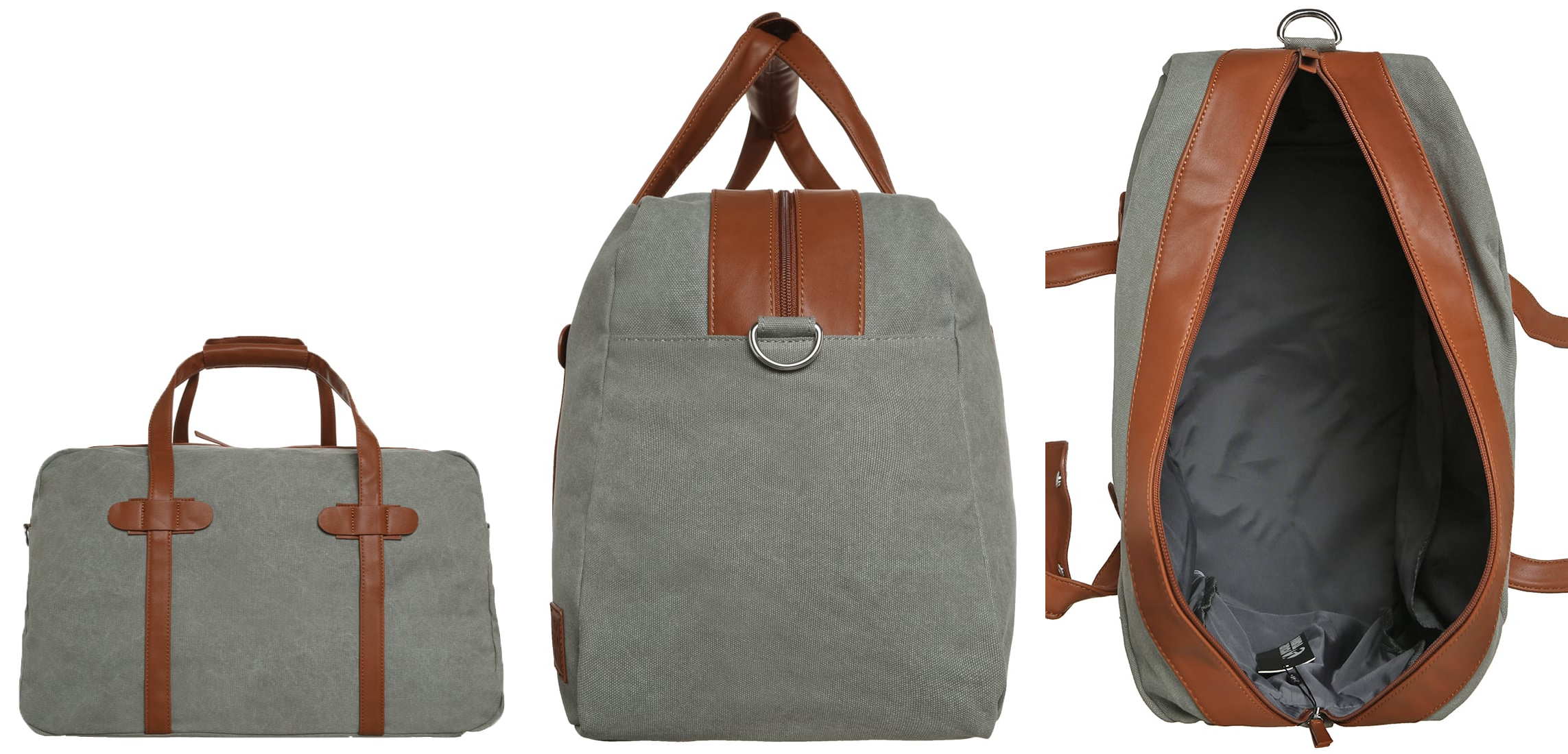 YOURTURN Torba weekendowa grey/cognac