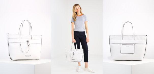 Calvin Klein Torba na zakupy powder white