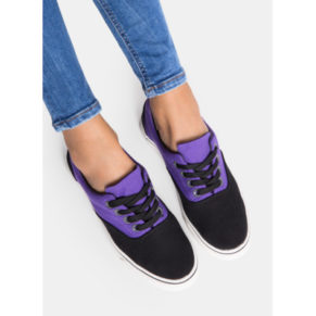Trampki Smith's Casual Violet and Black Trainer